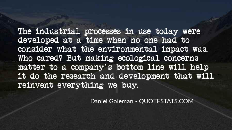 Environmental Impact Quotes #243012