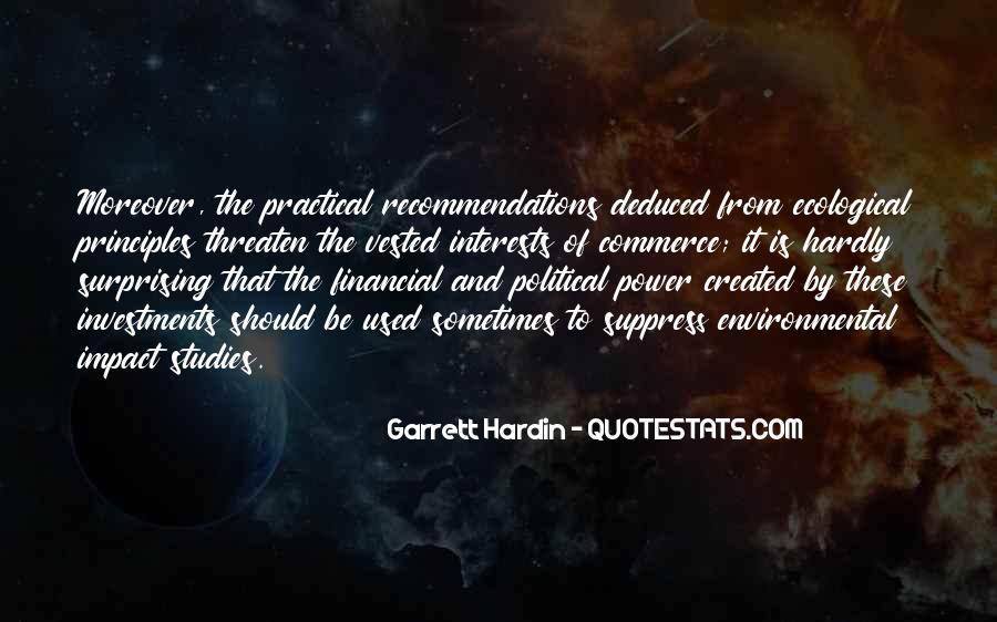 Environmental Impact Quotes #276424