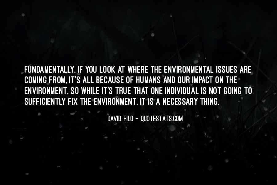 Environmental Impact Quotes #302882