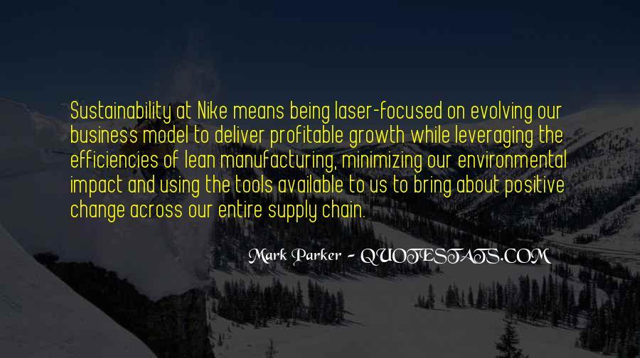 Environmental Impact Quotes #3187