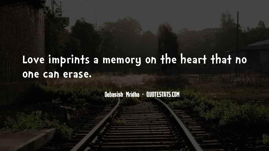 Erase All Memories Quotes #1118790