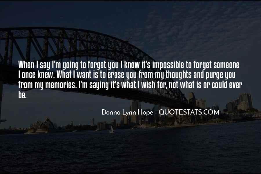 Erase All Memories Quotes #1787352