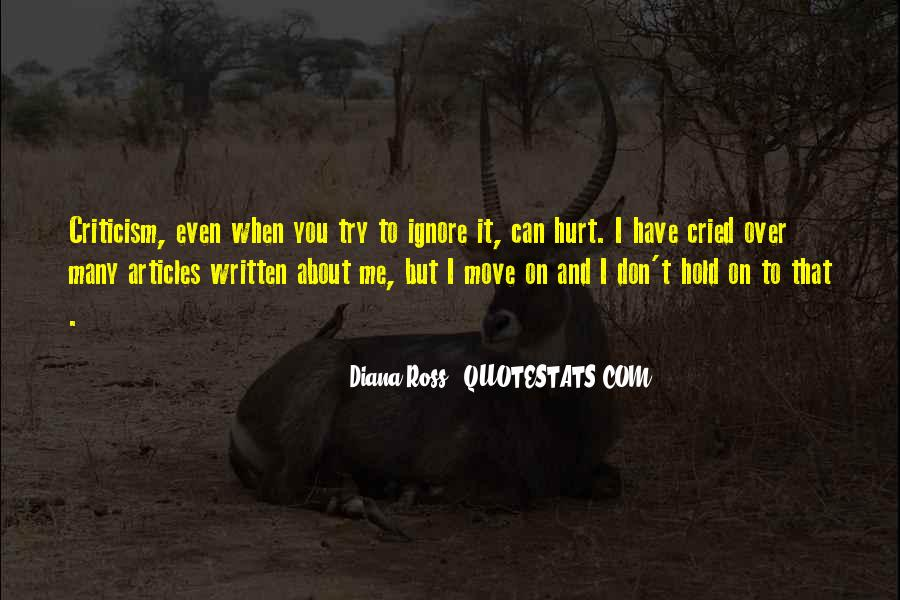 Even You Hurt Me Quotes #1759947