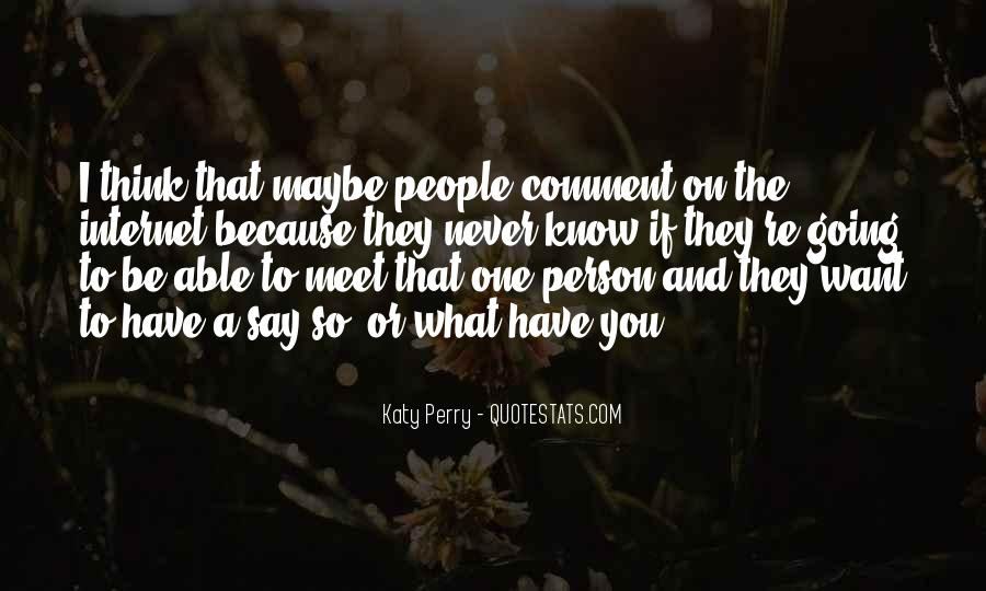 Every Person We Meet Quotes #59776