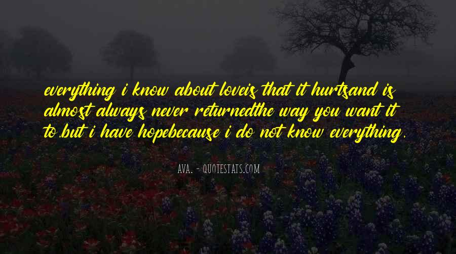 Everything I Know Quotes #8453