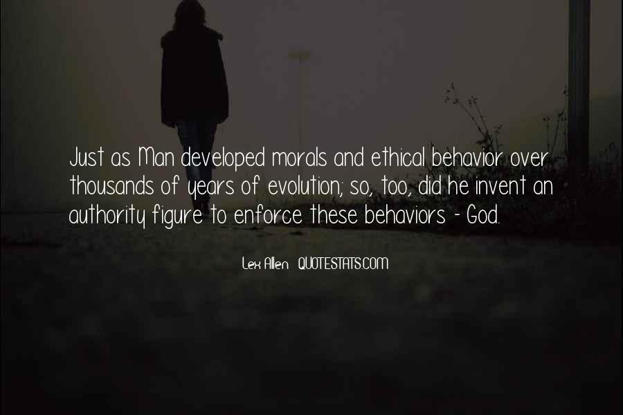 Evolution And Morality Quotes #703530