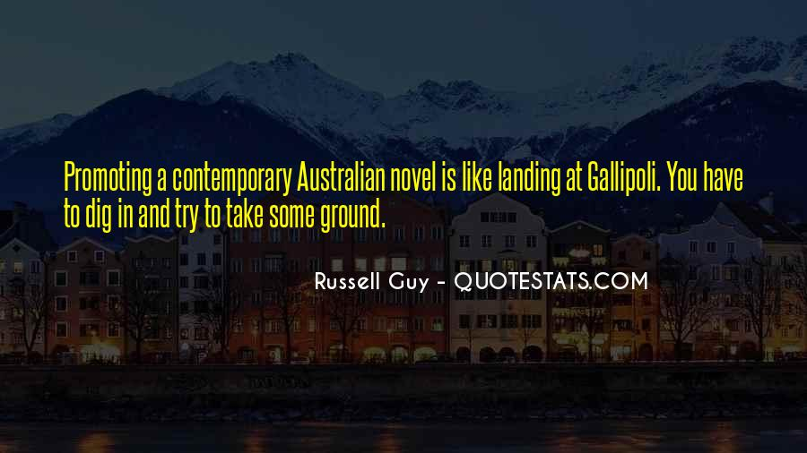 Quotes About The Landing At Gallipoli #1552130