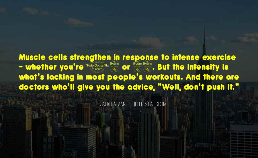 Exercise Intensity Quotes #171317
