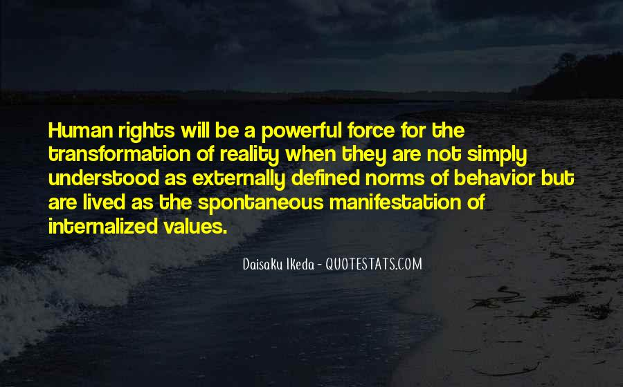 Quotes About Human Values And Rights #1001883
