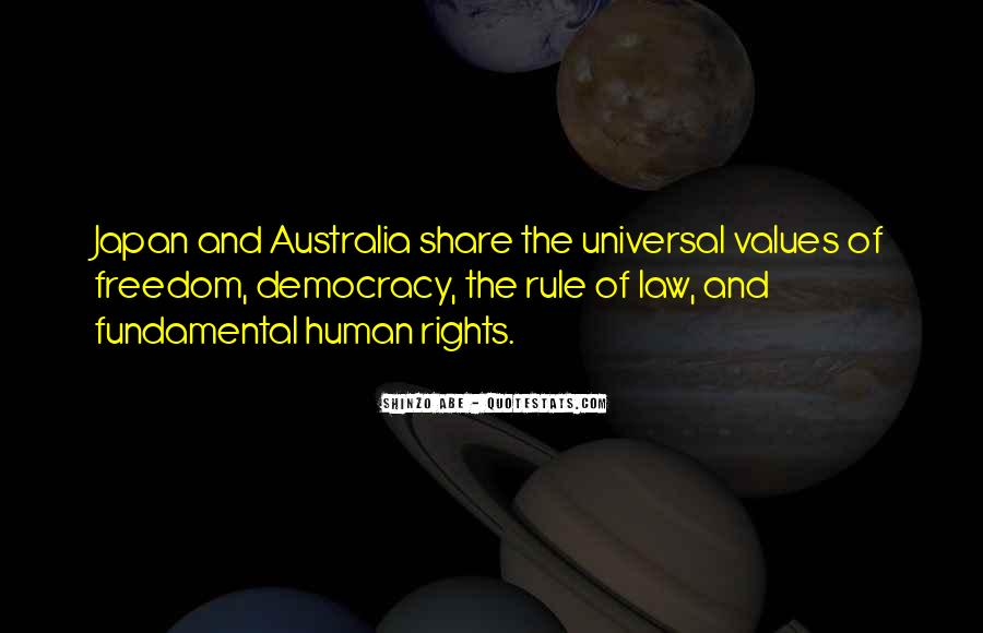 Quotes About Human Values And Rights #1028853