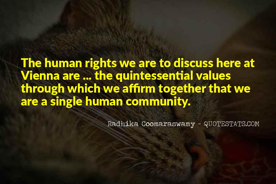 Quotes About Human Values And Rights #1436367