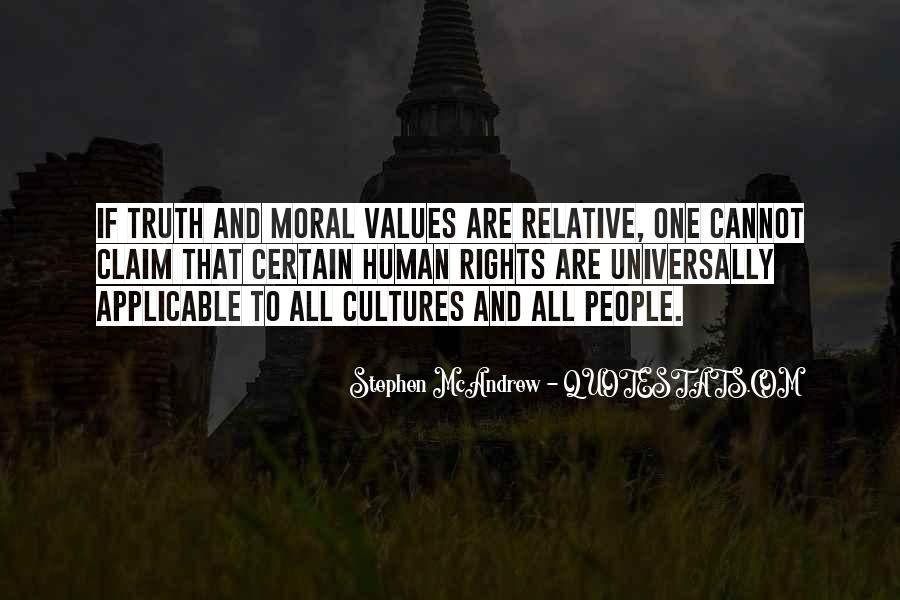 Quotes About Human Values And Rights #918438