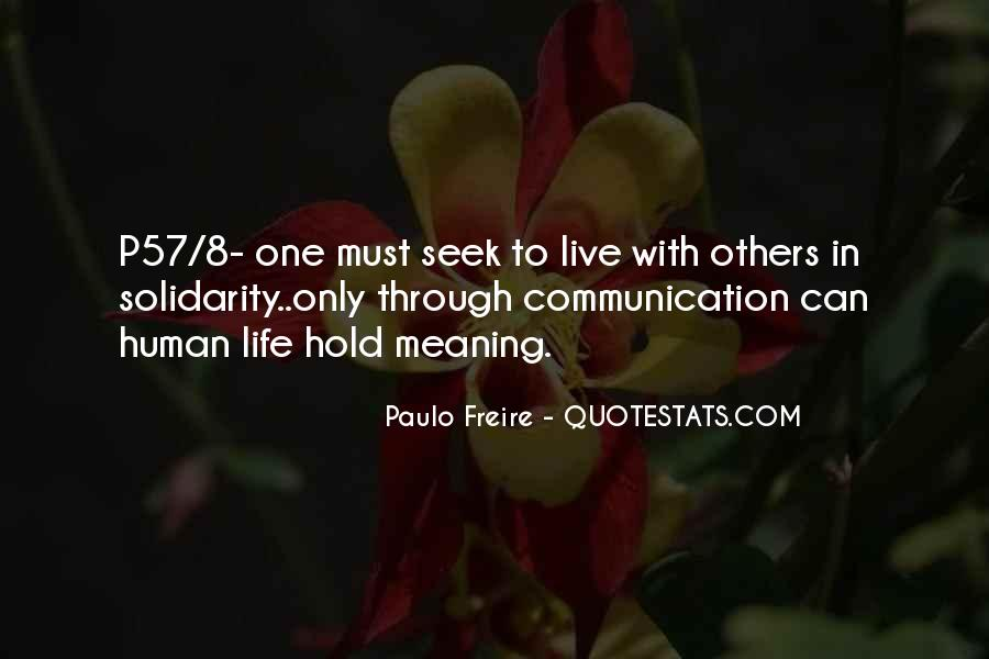 Quotes About Human Solidarity #1127315