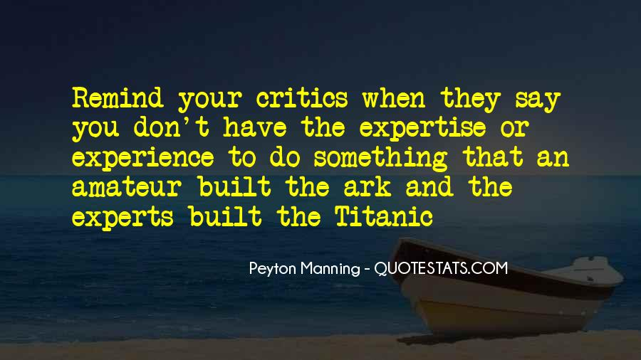 Experience And Expertise Quotes #209878