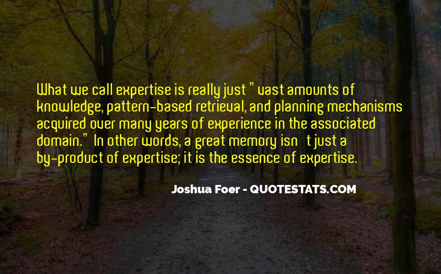 Experience And Expertise Quotes #253062