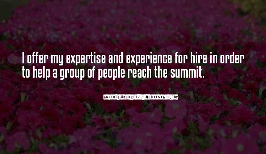Experience And Expertise Quotes #388349
