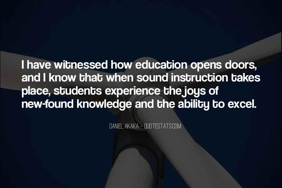 Experience Is The Best Education Quotes #105712
