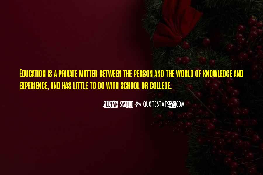 Experience Is The Best Education Quotes #134969