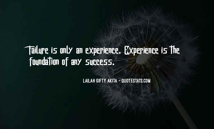 Experience Is The Best Education Quotes #207610