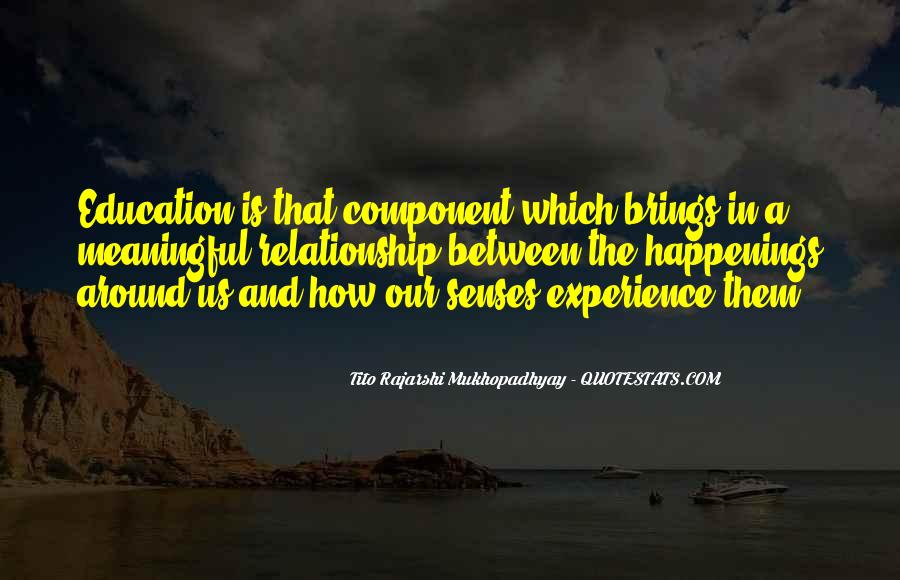 Experience Is The Best Education Quotes #271411