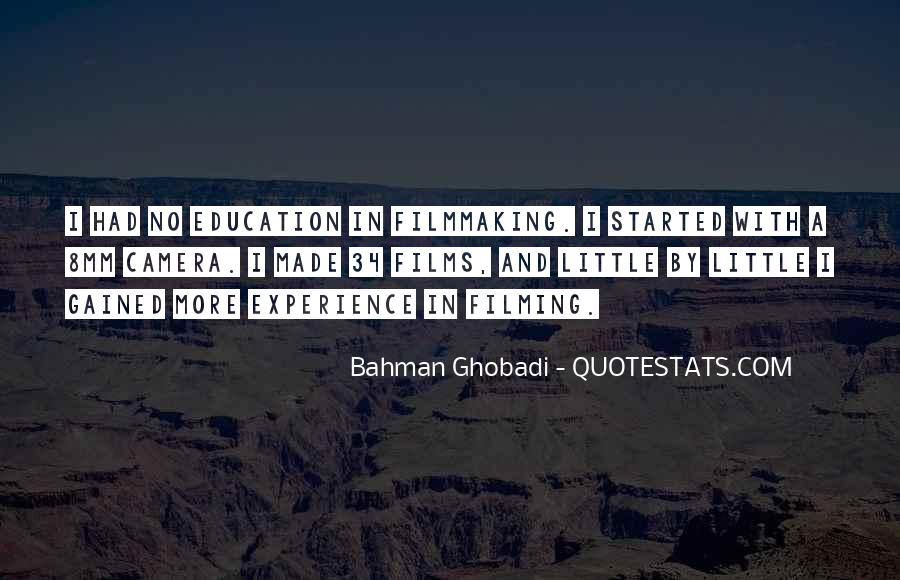 Experience Is The Best Education Quotes #48178