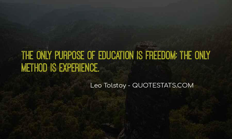 Experience Is The Best Education Quotes #77207