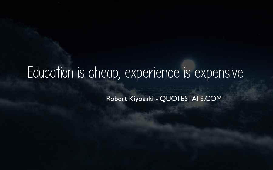 Experience Is The Best Education Quotes #82924