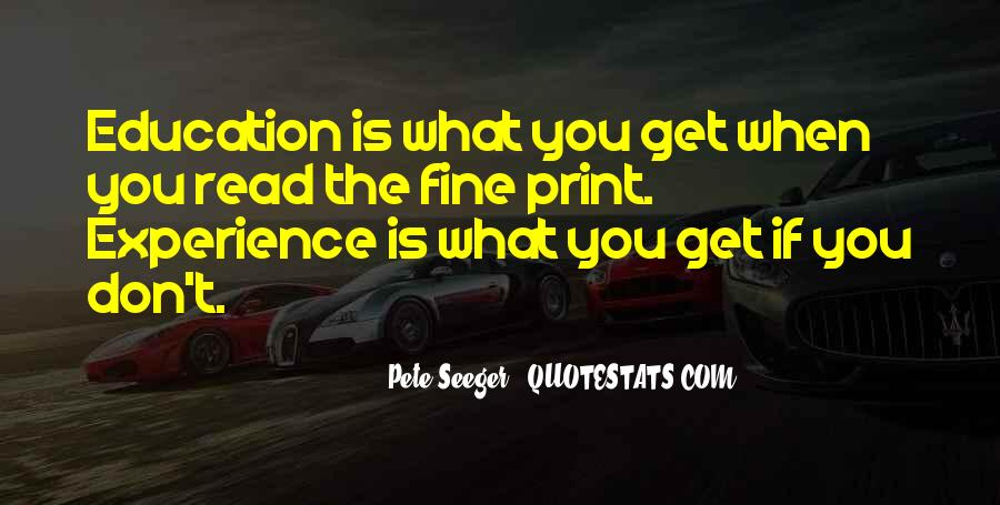 Experience Is The Best Education Quotes #83935