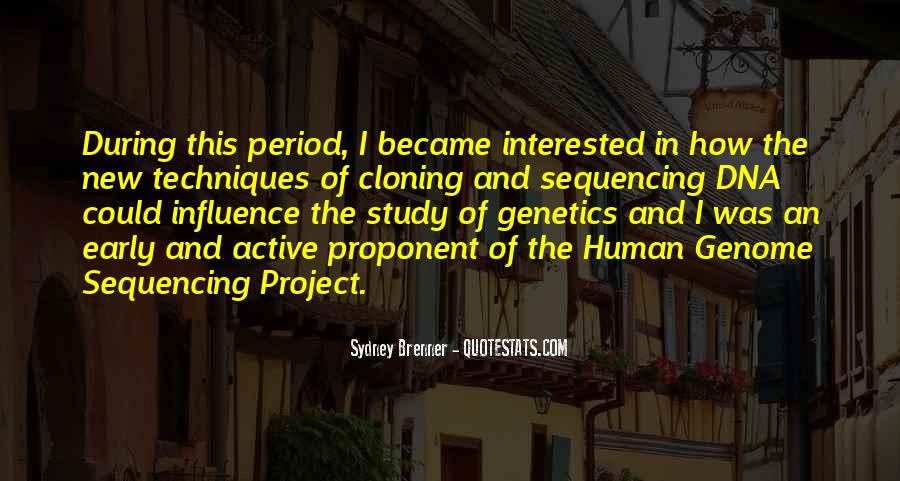 Quotes About Human Genome Project #161382
