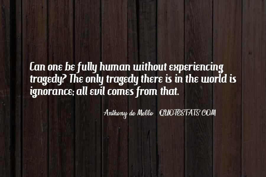 Quotes About Human Evil #279324