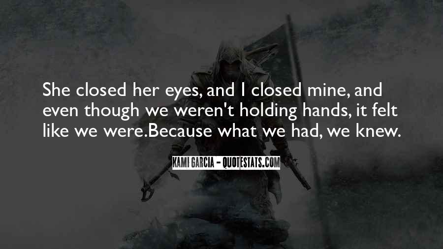 Eyes Closed Love Quotes #1046220