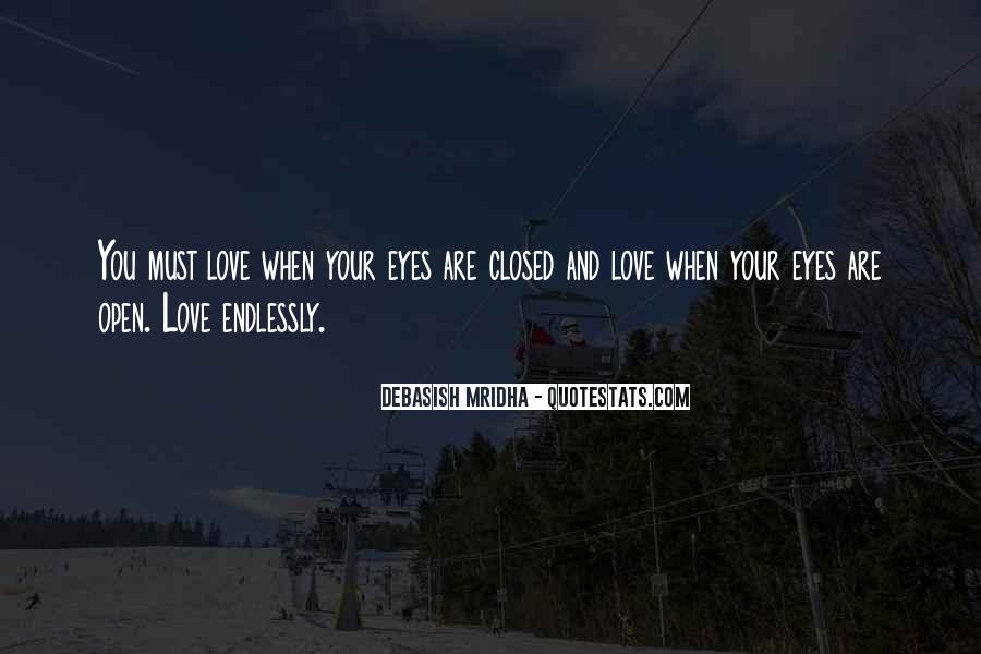 Eyes Closed Love Quotes #1186482