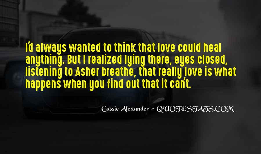 Eyes Closed Love Quotes #1202023