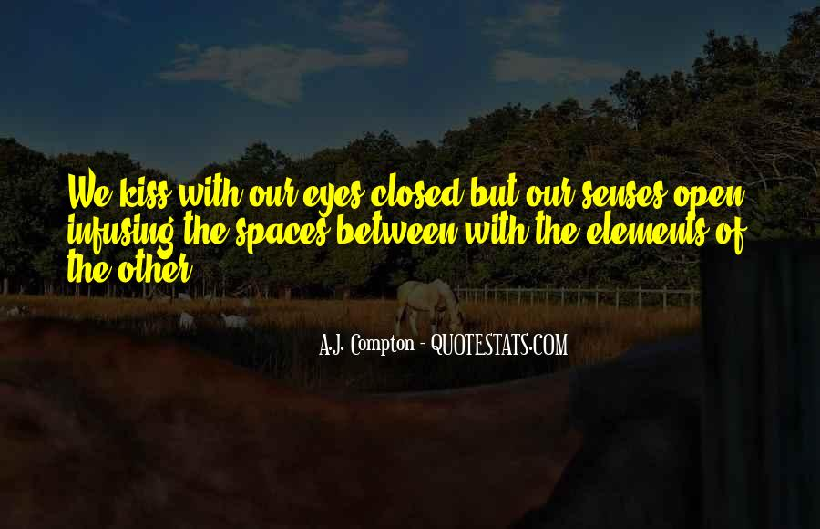 Eyes Closed Love Quotes #1228623