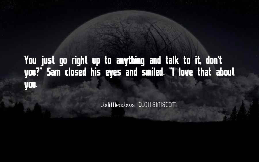 Eyes Closed Love Quotes #1495216
