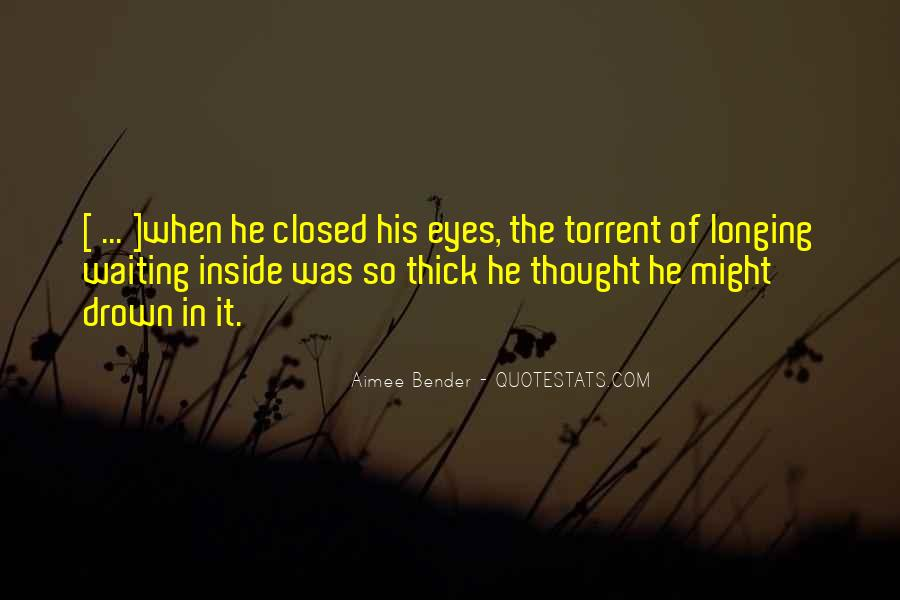 Eyes Closed Love Quotes #459003