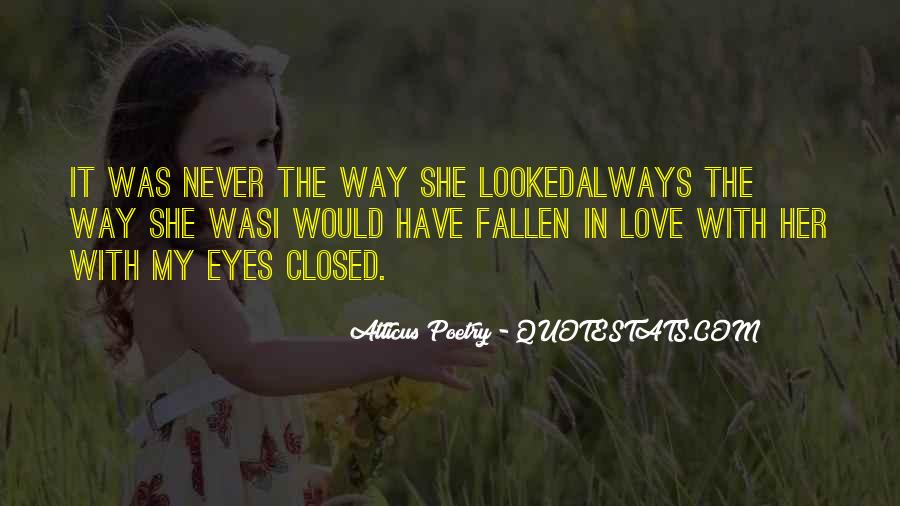 Eyes Closed Love Quotes #819407