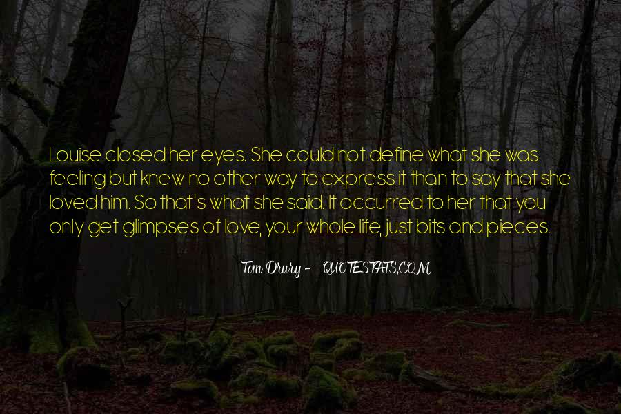 Eyes Closed Love Quotes #891085