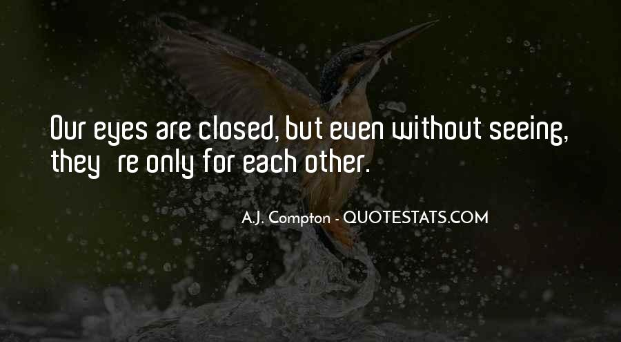 Eyes Closed Love Quotes #928892