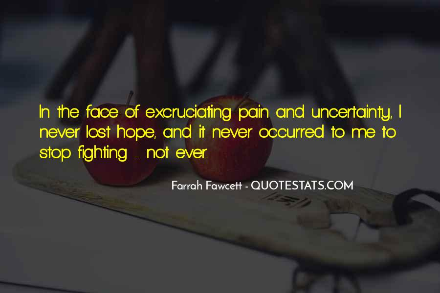 Face The Pain Quotes #148811