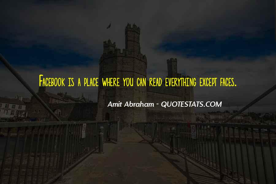 Facebook A Place Where Quotes #1466572