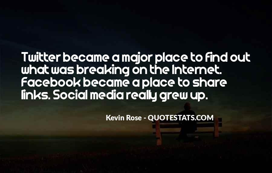 Facebook A Place Where Quotes #1807381