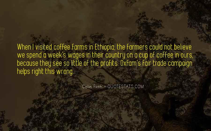Fair Trade Coffee Quotes #317594