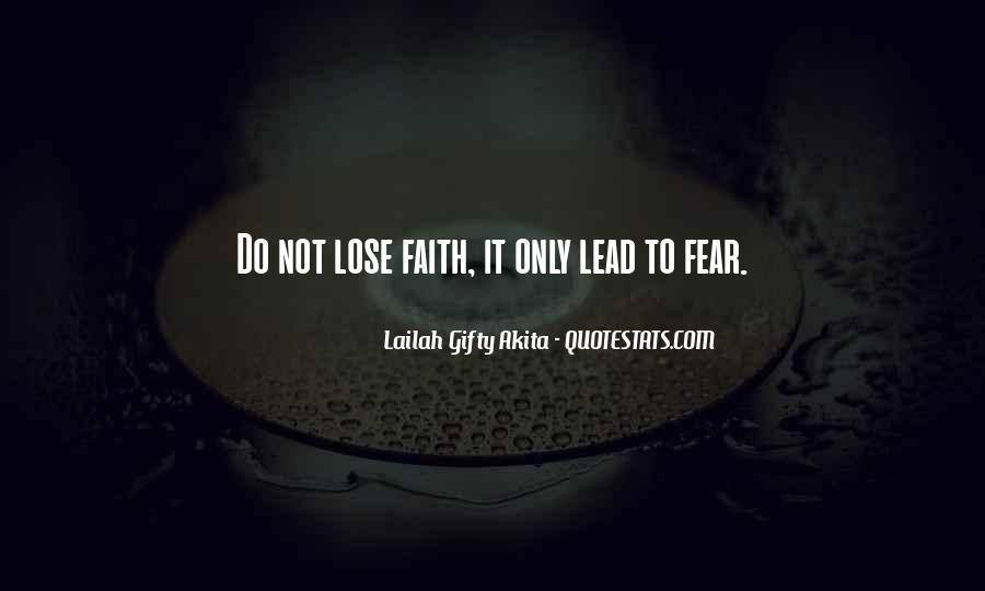 Faith Not Fear Quotes #1808800