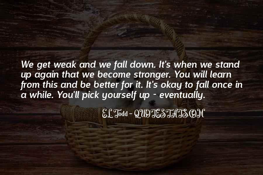 Fall But Stand Up Quotes #287607
