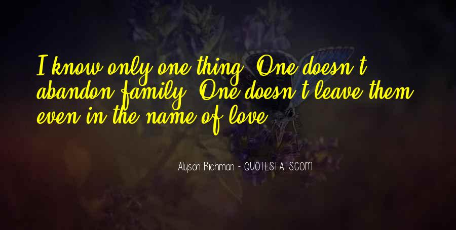 Family Abandon Quotes #1672996