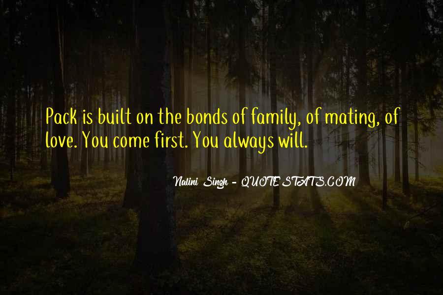 Family Bonds Quotes #295281