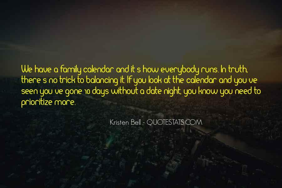 Family Calendar Quotes #677568