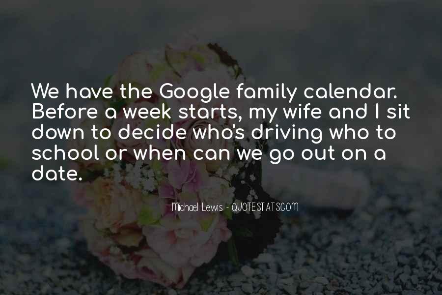 Family Calendar Quotes #756289