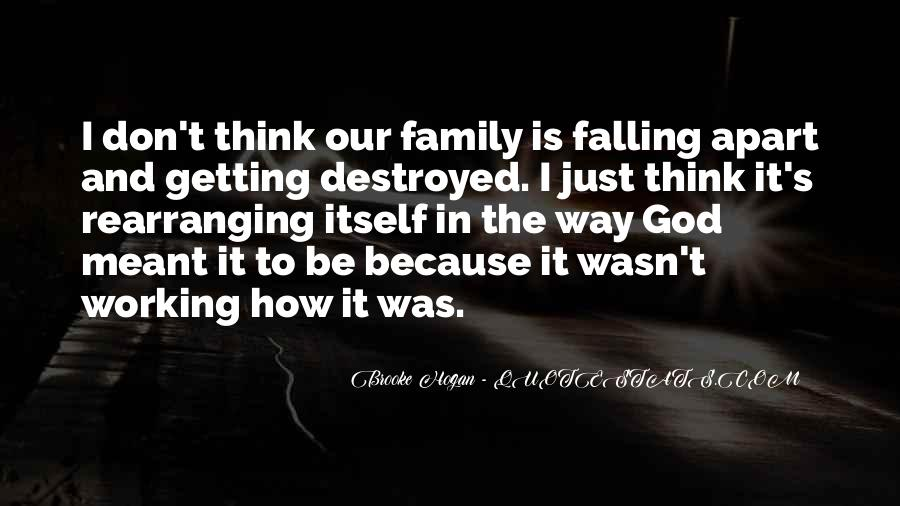Family Falling Apart Quotes #882277